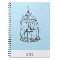 Bird cage note book