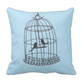 blue_bird cage throw cushion