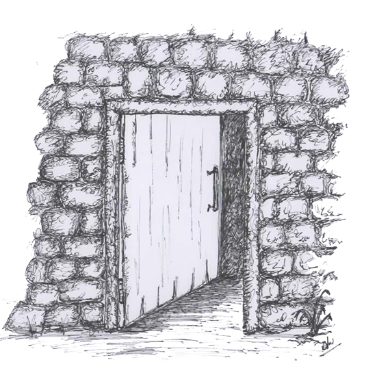 "What lies beyond the open door, a poem called ""Ajar"""